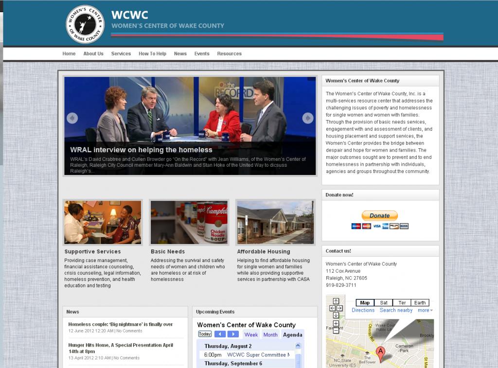 Women's Center of Wake County Website